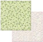 Papel Scrapbook WER267 30,5x30,5 Bo Bunny Rosas Verdes