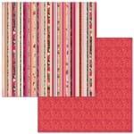 Papel Scrapbook WER272 30,5x30,5 Bo Bunny Barrados