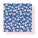 Papel Scrapbook WER294 30,5x30,5 Shimelle Flores Brancas