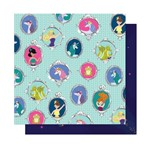 Papel Scrapbook WER297 30,5x30,5 Shimelle Conto de Fadas