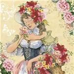Papel Scrapdecor Litoarte Sdsxv-097 Simples 15x15cm Mulher Flores Tropicais na Cabeça