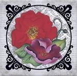 Papel ScrapDecor Litoarte SDSXV1-004 15x15cm Flores Moldura Vitoriana By Lili Negrão