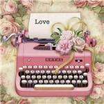 Papel Scrapdecor Litoarte Sdsxx-052 Simples 20x20cm Máquina de Escrever