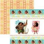 Papel Scrapfesta Disney Moana Fitas e Rótulos Sdfd059 - Toke e Crie