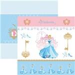 Papel Scrapfesta Disney Princesa Cinderela Cenário e Bandeirolas Sdfd070 - Toke e Crie