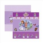 Papel Scrapfesta Disney Princesinha Sofia Cenário e Bandeirolas Sdfd048 - Toke e Crie