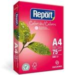 Papel Sulfite A4 75g Resma com 500 Folhas Rosa Report Suzano
