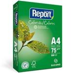 Papel Sulfite A4 75g Resma com 500 Folhas Verde Report Suzano