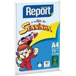 Papel Sulfite A4 Colorido Report Senninha 75 G Azul Suzano Pct/100