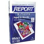 Papel Sulfite Oficio 2 Report Multiuso 75grs. Suzano Pct/500