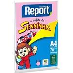 Papel Sulfite Senninha A4 75g 100 Folhas Rosa - Report