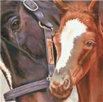 Papel Transfer 30x30 Casal de Cavalos Pt30-021 - Litoarte
