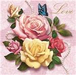 Papel Transfer 30x30 Love e Rosas Pt30-003 - Litoarte