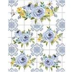 Papel Transfer Litoarte 21,8x28,4cm PTG-065 Flores Azuis