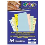 Papel Vergê A4 Azul 180g Off Paper 50 Folhas