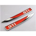 Par Adesivo Emblema de Metal Golf Gti