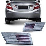 Par Aplique Lanterna Traseira Honda Civic 2012 2013 2014 2015 2016 Defletor Mala