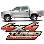Par de Adesivos 4x4 Turbo Intercooler Hilux 09/12