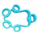 Par de Elastico para Fortalecimento dos Dedos - 5kg/11lb - Azul