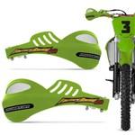Par de Protetor de Mão Motocross Protork 788 Trilha Universal Verde