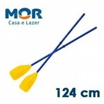 Par de Remos em Plastico Resistente 1,24m Mor