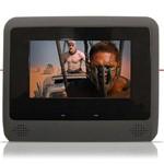 """Par DVD Player Tela Encosto de Cabeça 7"""" LCD com Game USB SD com Transmissor FM Touchcreen Cinza"""