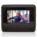 """Par DVD Player Tela Encosto de Cabeça 7"""" LCD com Game USB Sd com Transmissor Fm Touchcreen Preto"""