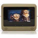 """Par DVD Player Tela para Encosto de Cabeça 7"""" LCD com Game USB SD com Transmissor FM Touchcreen Bege"""