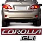 Par Emblema do Porta Malas - Corolla GLi 2010 a 2018