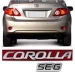 Par Emblema do Porta Malas - Corolla SE-G 2009 2010