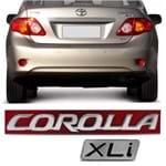 Par Emblema do Porta Malas - Corolla XLi 2009 a 2014