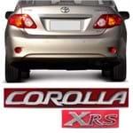 Par Emblema do Porta Malas - Corolla XRS 2013 a 2019