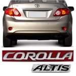 Par Emblema Letreiro do Porta Malas - Corolla Altis 2011 a 2018