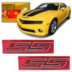 Par Emblema SS Grade e Porta Malas - Civic e Camaro - Vermelho