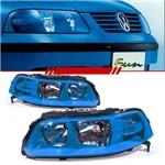 Par Farol Volkswagen Gol Parati Saveiro G3 1999 2000 2001 2002 2003 2004 2005 Máscara Azul Fun