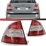 Par Lanterna Traseira Ford Focus Sedan 2009 2010 2011 2012 2013 Bicolor Modelo Esportivo