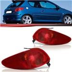 Par Lanterna Traseira Peugeot 206 2003 2004 2005 2006 2007 2008