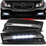 Par Moldura Grade do Milha Daylight Chevrolet Cruze Sedan 2012 2013 2014 LED