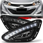 Par Moldura Grade do Milha Daylight Hyundai HB20 2012 2013 2014 2015 LED