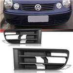 Par Moldura Grade do Milha Volkswagen Polo 2003 2004 2005 2006 Sem Furo
