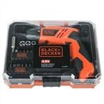Parafusadeira à Bateria 4,8v com Kit 16 Peças Bivolt Kc4815k-BR Black & Decker