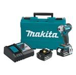 Parafusadeira de Impacto à Bateria 18V + 2 Baterias + Carregador + Maleta DTD170RFE Makita - Bivolt