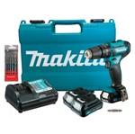 Parafusadeira/Furadeira à Bateria 12V+Bateria 1,5Ah+Brocas HP333DWYE -P Makita