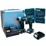 Parafusadeira/Furadeira DF331D + TD110D - CLX224SAX -P+Bateria 1,5Ah+Bits-Makita