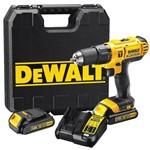 Parafusadeira Impacto 20v Biv Dewalt DCD776C2 com Maleta e 2 Baterias