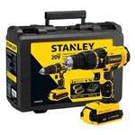 Parafusadeira Stanley 20V 1/2 Impacto SCH20C2K 2 X Bateria Ion Litio