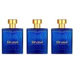 Paris Elysees Vodka Brasil Blue Perfume 100ml (kit C/03)
