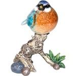 Pássaro no Galho Decorativo Resina Azul - Greenway