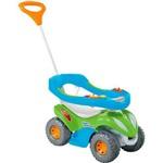 Passo a Passo Infantil Calesita Super Comfort Completo - 2 em 1 - Verde/azul
