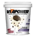 Pasta de Amendoim Cookies & Cream (1kg) - Vitapower